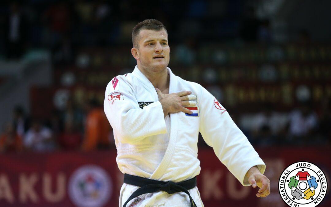 Michael Korrel pakt goud op Grand Slam Bakoe